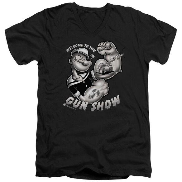 Popeye Gun Show Short Sleeve Adult V Neck T-Shirt