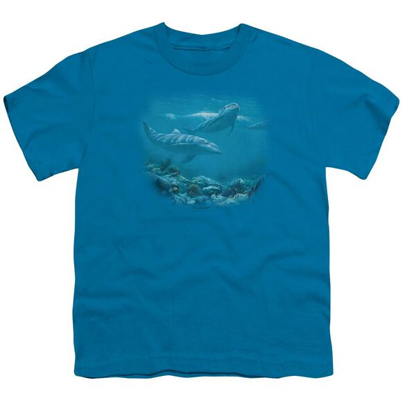 Wildlife Bottlenosed Dolphins Short Sleeve Youth T-Shirt