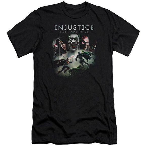 Injustice Gods Among Us Key Art Premuim Canvas Adult Slim Fit