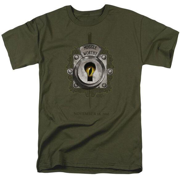 Fantastic Beasts Muggle Worthy Short Sleeve Adult Military Green T-Shirt