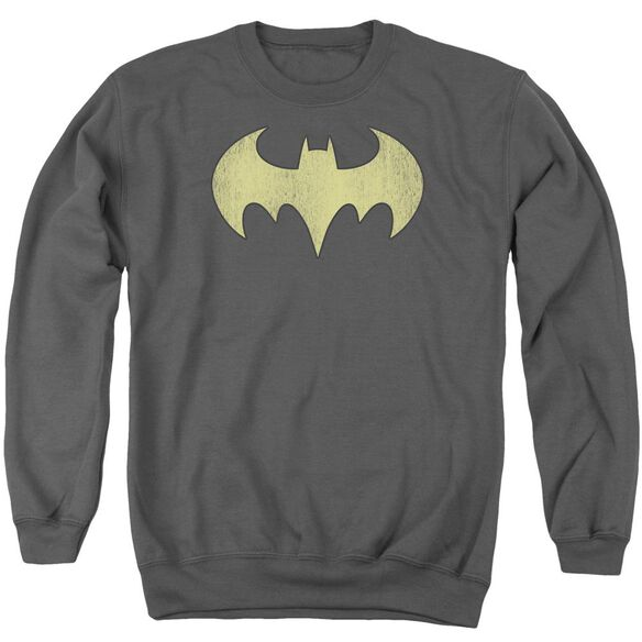 Dc Batgirl Logo Distressed Adult Crewneck Sweatshirt