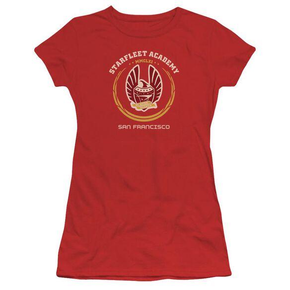 Star Trek Academy Heraldry Short Sleeve Junior Sheer T-Shirt