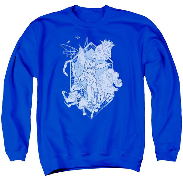 Rise Of The Guardians Coming For You Adult Crewneck Sweatshirt Royal