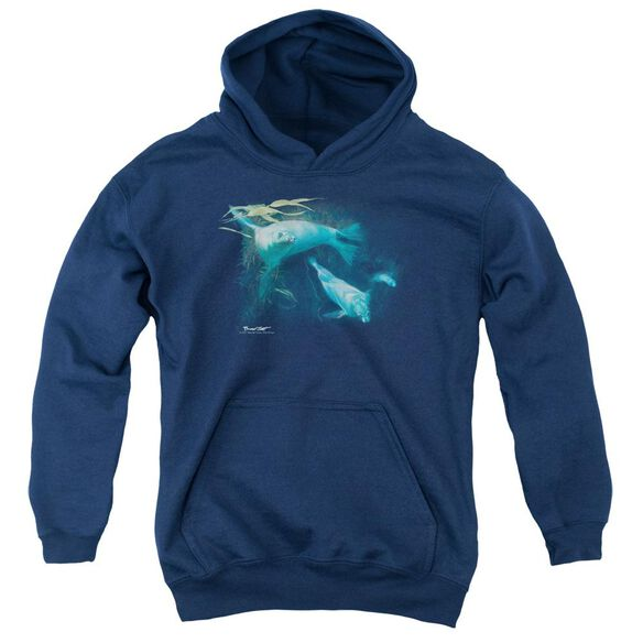 Wildlife Kelp Patrol Youth Pull Over Hoodie
