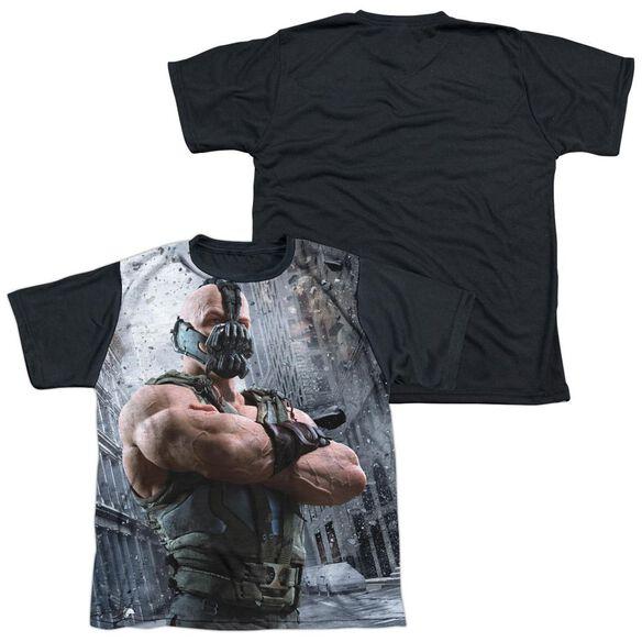 Dark Knight Rises Occupy Gotham Short Sleeve Youth Front Black Back T-Shirt