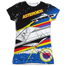 Atari Asteroids Arcade Short Sleeve Junior Poly Crew T-Shirt