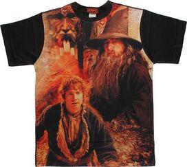 Hobbit Bilbo Gandalf Treasure Sublimated T-Shirt Sheer