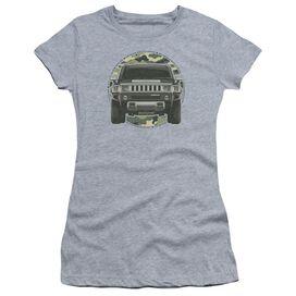 Hummer Lead Or Follow Short Sleeve Junior Sheer Athletic T-Shirt