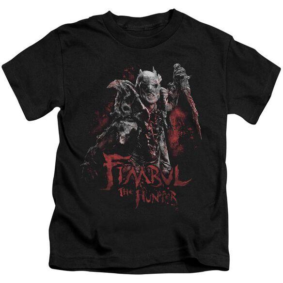The Hobbit Fimbul The Hunter Short Sleeve Juvenile Black T-Shirt