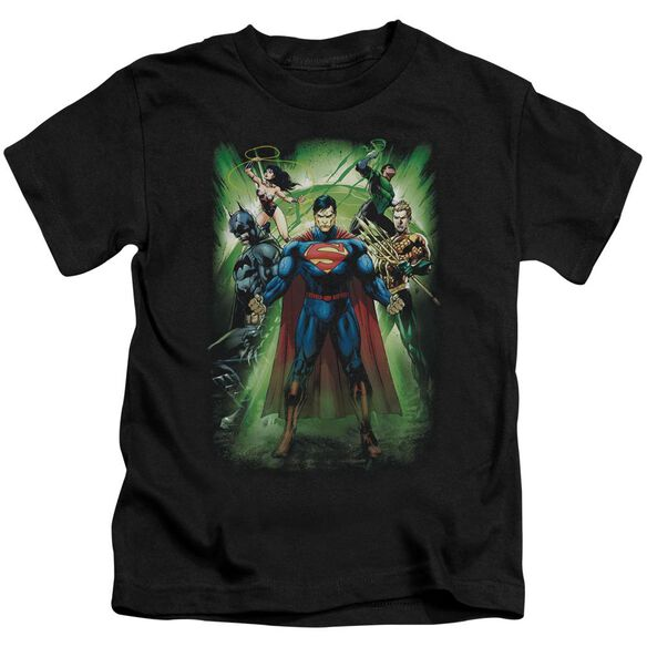 Jla Power Burst Short Sleeve Juvenile T-Shirt
