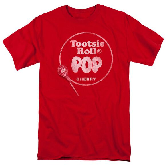 Tootsie Roll Tootsie Roll Pop Logo Short Sleeve Adult T-Shirt