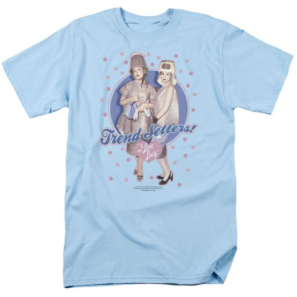 I Love Lucy Trend Setters Short Sleeve Adult Light Blue T-Shirt