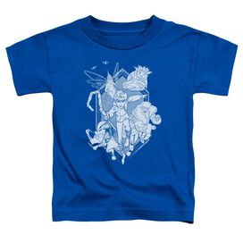 Rise Of The Guardians Coming For You Short Sleeve Toddler Tee Royal Blue T-Shirt