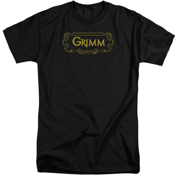 Grimm Plaque Logo Short Sleeve Adult Tall T-Shirt