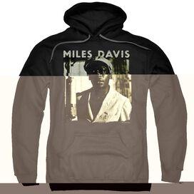 Miles Davis Miles Portrait Adult Pull Over Hoodie