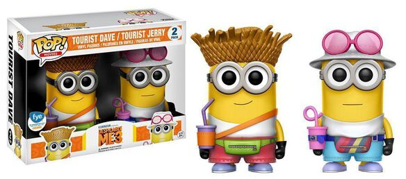 Exclusive Despicable Me 3 Tourist Dave & Jerry 2 Pack Funko Pop!