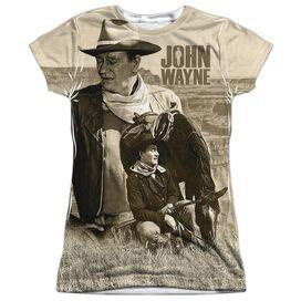 John Wayne Stoic Cowboy Short Sleeve Junior Poly Crew T-Shirt
