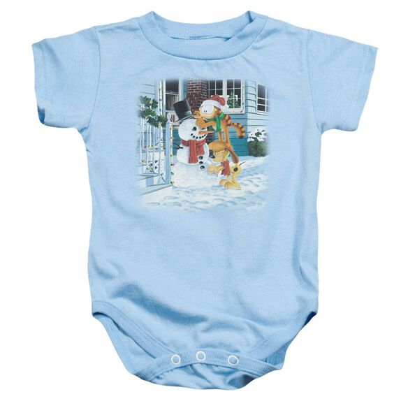 Garfield Snow Fun Infant Snapsuit Light Blue