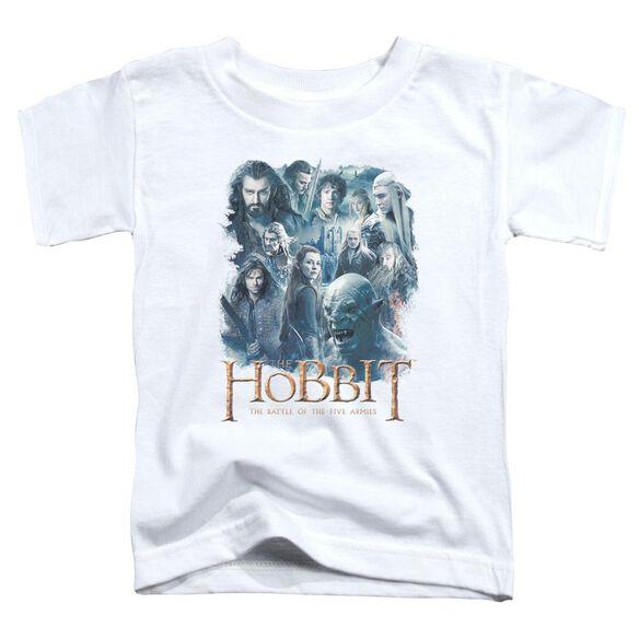 Hobbit Main Characters Short Sleeve Toddler Tee White T-Shirt