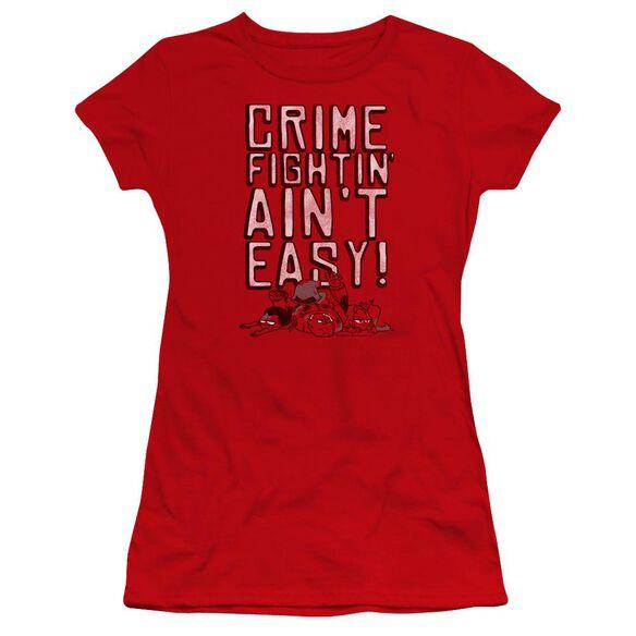 Teen Titans Go Not Easy Hbo Short Sleeve Junior Sheer T-Shirt