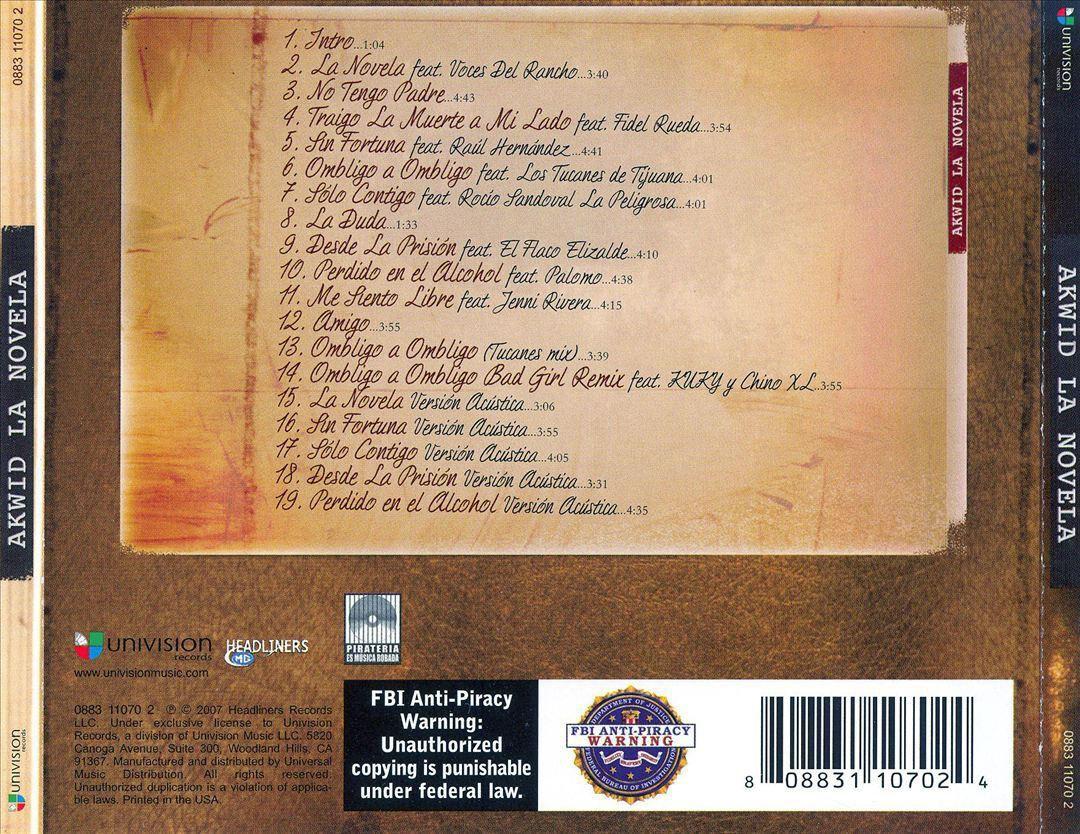 akwid la novela cd