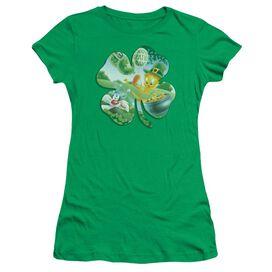 Looney Tunes Tweety Shamrock Short Sleeve Junior Sheer Kelly T-Shirt
