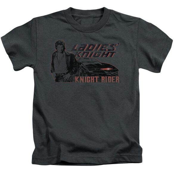 Knight Rider Ladies Knight Short Sleeve Juvenile Charcoal Md T-Shirt
