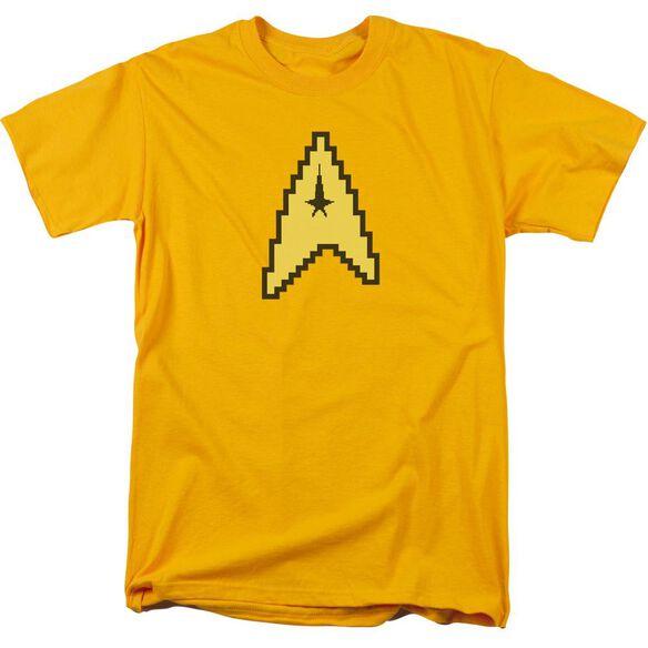 Star Trek 8 Bit Command Short Sleeve Adult Gold T-Shirt