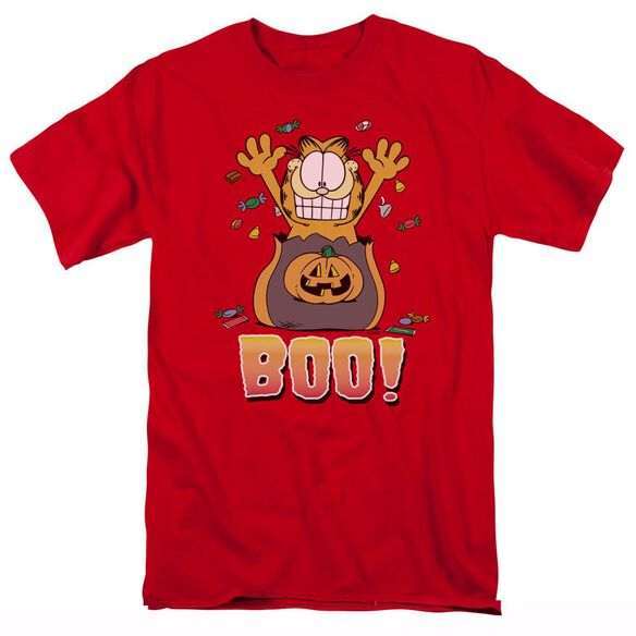 GARFIELD BOO! - S/S ADULT 18/1 - RED T-Shirt