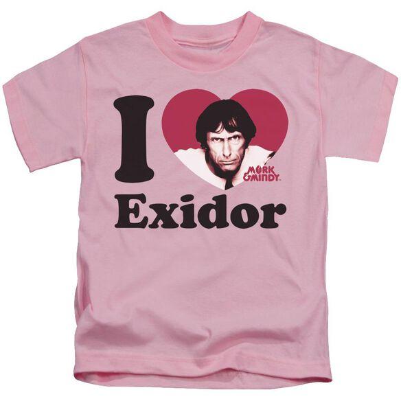 Mork & Mindy I Heart Exidor Short Sleeve Juvenile Pink T-Shirt