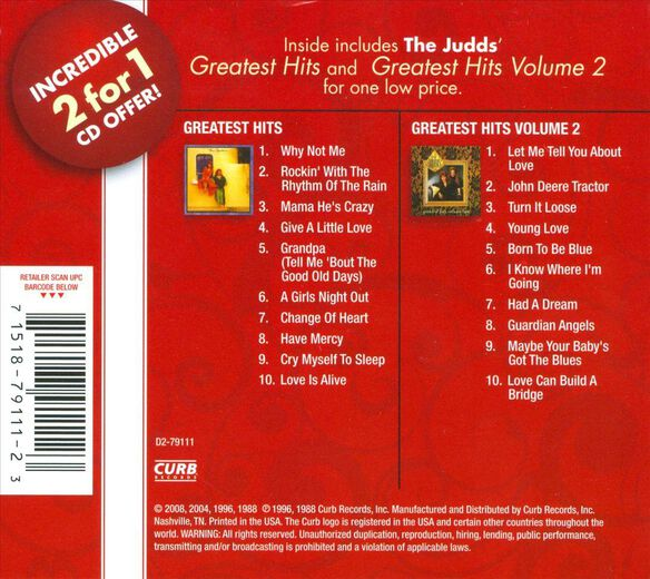 Greatest Hits V1/V2 (2 Cd)