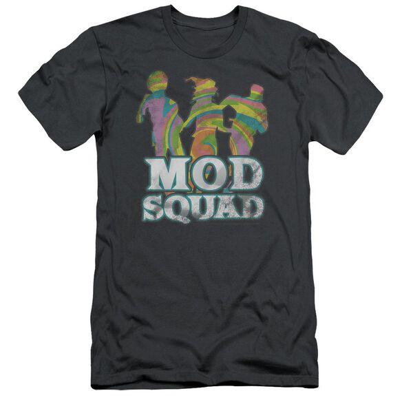 MOD SQUAD MOD SQUAD RUN GROOVY - S/S ADULT 30/1 - CHARCOAL T-Shirt