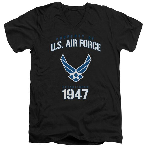 Air Force Property Of Short Sleeve Adult V Neck T-Shirt