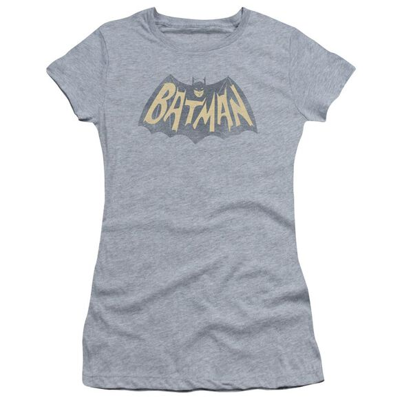 Batman Classic Tv Show Logo Short Sleeve Junior Sheer Athletic T-Shirt