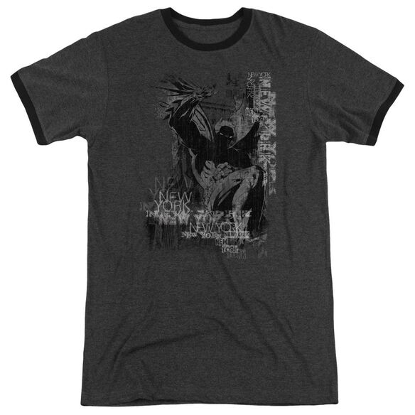 Batman The Knight Life Adult Heather Ringer Charcoal