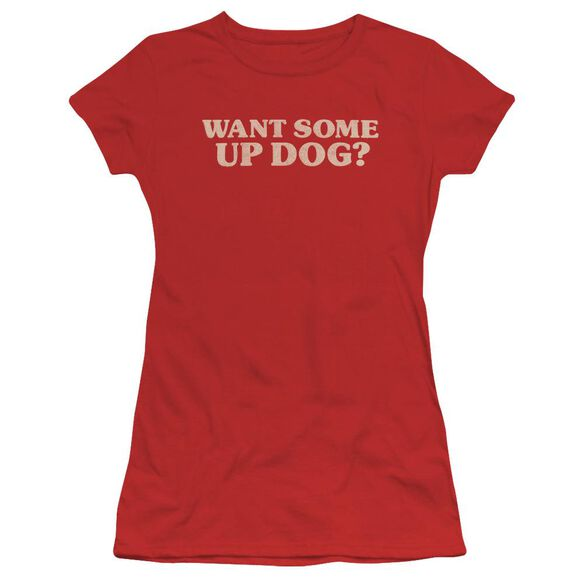 Up Dog Short Sleeve Junior Sheer T-Shirt