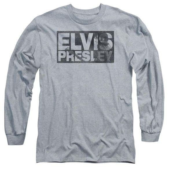 Elvis Presley Block Letters Long Sleeve Adult Athletic T-Shirt