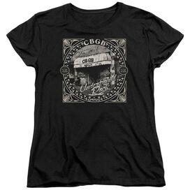 Cbgb Front Door Short Sleeve Womens Tee T-Shirt