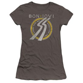Bon Jovi Slippery When Wet World Tour Hbo Short Sleeve Junior Sheer T-Shirt