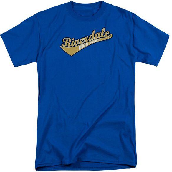 Archie Comics Riverdale High School Short Sleeve Adult Tall Royal T-Shirt