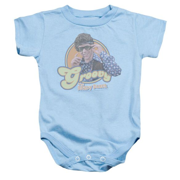 Brady Bunch Groovy Greg Infant Snapsuit Light Blue Xl