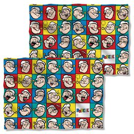 Popeye Many Moods (Front Back Print) Pillow Case White