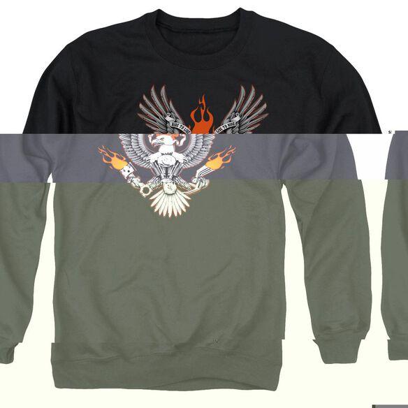 Biker Eagle - Adult Crewneck Sweatshirt - Black