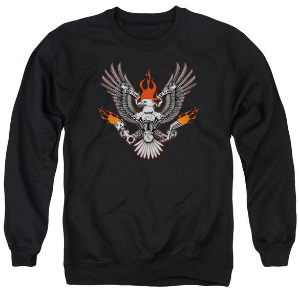 Biker Eagle Adult Crewneck Sweatshirt