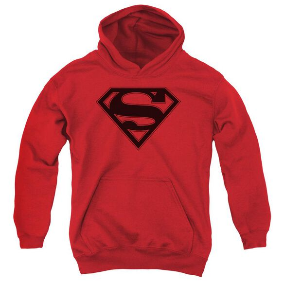 Superman & Black Shield Youth Pull Over Hoodie