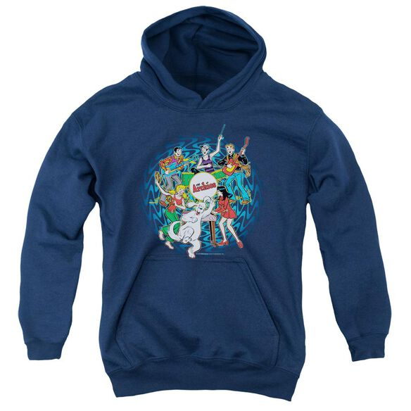 Archie Comics Psychadelic Archies Youth Pull Over Hoodie