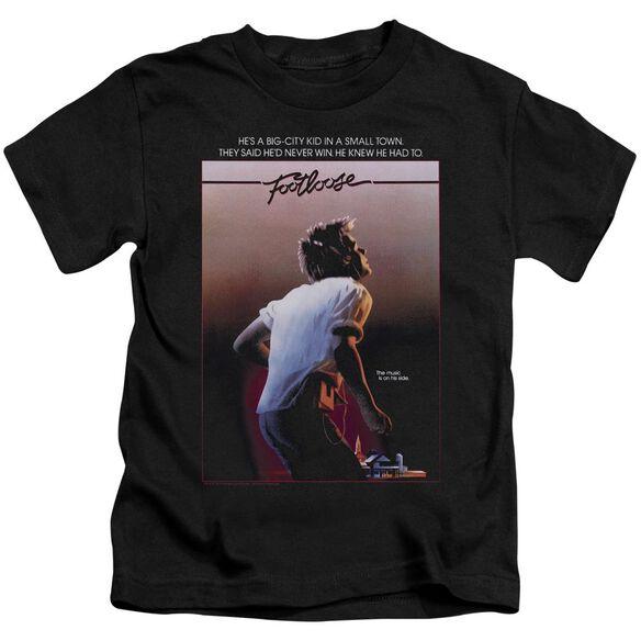Footloose Poster Short Sleeve Juvenile Black T-Shirt