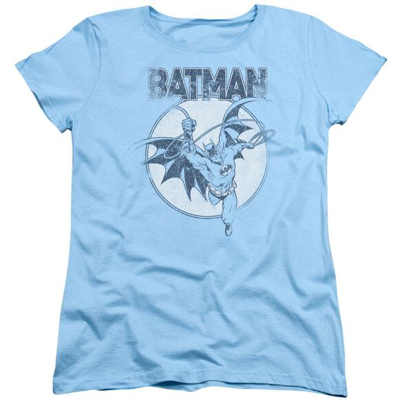 BATMAN SWINGING BAT - S/S WOMENS TEE - LIGHT BLUE T-Shirt