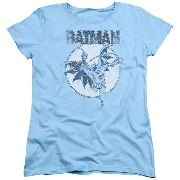 Batman Swinging Bat Short Sleeve Women's Tee Light T-Shirt