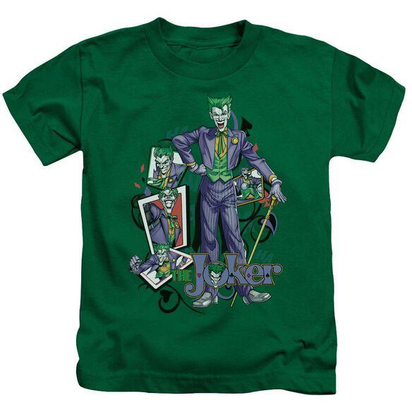 Batman Wild Cards Short Sleeve Juvenile Kelly Green T-Shirt
